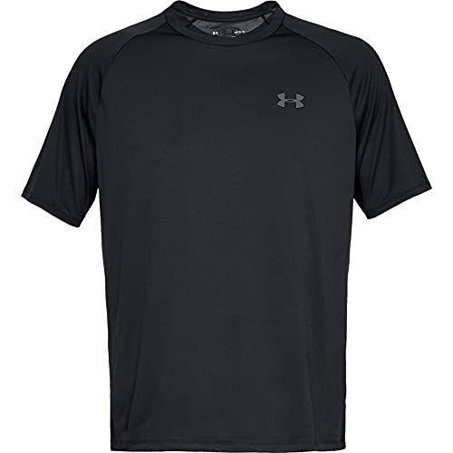 """<p><strong>Under Armour</strong></p><p>amazon.com</p><p><strong>$19.99</strong></p><p><a href=""""https://www.amazon.com/dp/B0785VMVF4?tag=syn-yahoo-20&ascsubtag=%5Bartid%7C2142.g.36364738%5Bsrc%7Cyahoo-us"""" rel=""""nofollow noopener"""" target=""""_blank"""" data-ylk=""""slk:Shop Now"""" class=""""link rapid-noclick-resp"""">Shop Now</a></p><p>Currently the No. 1 best selling men's workout and training shirt on Amazon, this reviewer-loved performance shirt is made with Under Armour's UA Tech fabric, which is quick-drying and soft feeling. </p><p><em>[<a href=""""https://www.runnersworld.com/gear/a22516491/workout-shirts/"""" rel=""""nofollow noopener"""" target=""""_blank"""" data-ylk=""""slk:The Best Workouts Tops for Men and Women"""" class=""""link rapid-noclick-resp"""">The Best Workouts Tops for Men and Women</a>]</em></p>"""