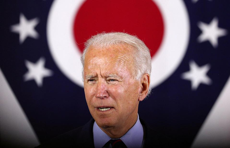 A poll for The Independent finds Joe Biden ahead but with warning signs emerging (Reuters)