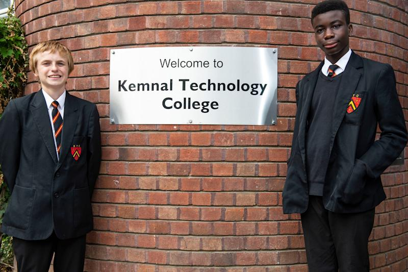 Fresh approach: pupils at the Kemnal Technology College (Lucy Young)