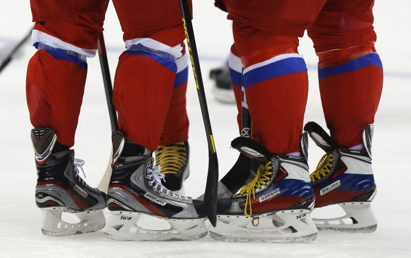 Olympic hockey: Russia practices without Datsyuk