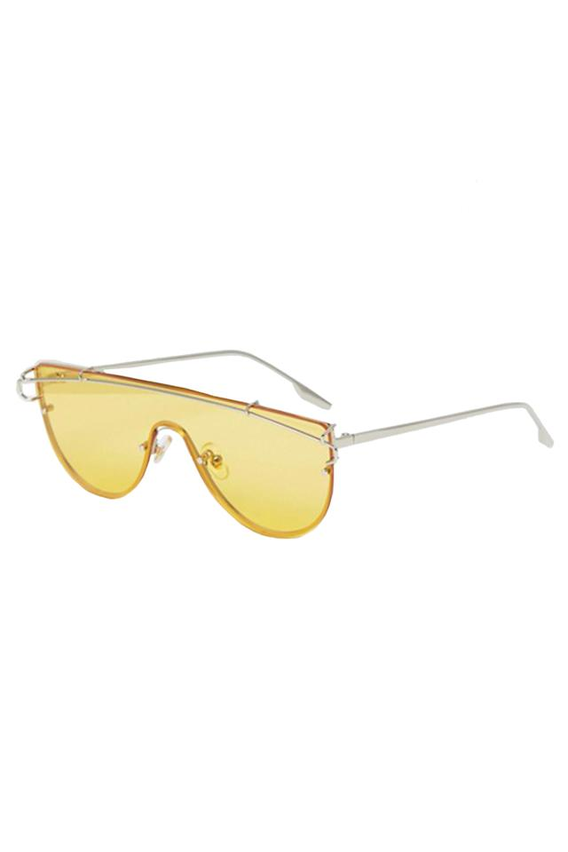 2be33504b7  p Asos Jeepers Peepers Yellow Tinted Lens Visor Sunglasses
