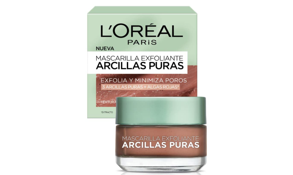 L'Oreal Paris Mascarilla Exfoliante, Arcillas Puras, 40 ml. Foto: amazon.com.mx.