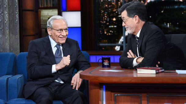 Journalist and author Bob Woodward stopped by 'The Late Show' on Monday to discuss his new book, 'Fear: Trump in the White House.' (Scott Kowalchyk/CBS)
