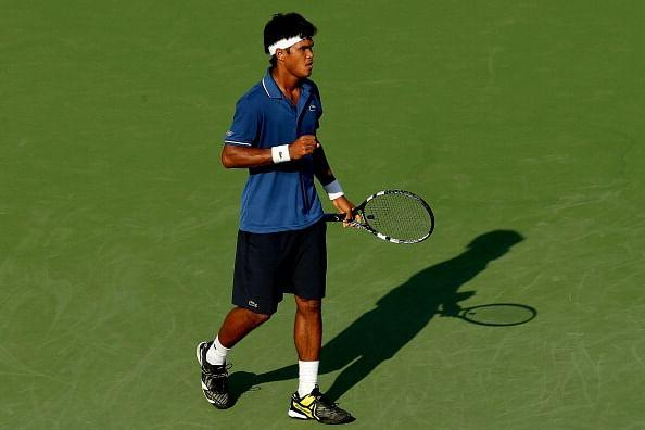 Somdev Devvarman celebrates match point against defending champion Alexandr Dolgopolov during the Citi Open at the William H.G. FitzGerald Tennis Center on July 30, 2013 in Washington, DC. (Getty Images)