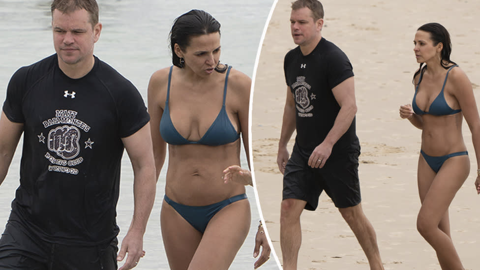 <p>Hollywood favourite Matt Damon is back Down Under with his family. Photo: Diimex </p>