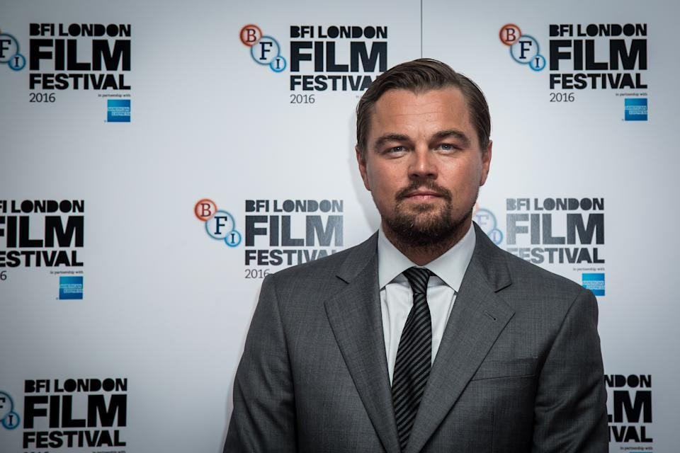 Actor Leonardo DiCaprio poses for photographers during a photo call to promote the film 'Before the Flood', showing as part of the London Film Festival in London, Saturday, Oct. 15, 2016. (Photo by Vianney Le Caer/Invision/AP)