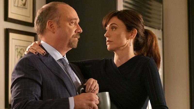 """Paul Giamatti and Maggie Siff in """"Billions"""" on Showtime. (Showtime)"""