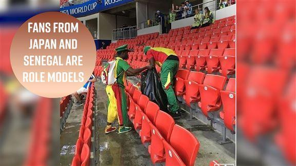 Russia 2018 is full of surprises, but not only when it comes to the results. After the Senegal vs. Poland and Colombia vs. Japan matches, fans surprised us all when they showed how to do the right thing with their trash.