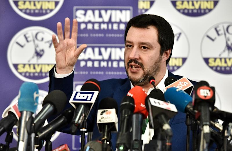 Far-right leader Matteo Salvini said the election result gave him a mandate to govern Italy (AFP Photo/Piero CRUCIATTI)