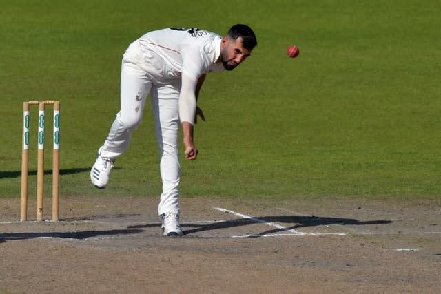 Lancashire quick Saqib Mahmood misses out on selection for Test series (Anthony Devlin/PA Images).