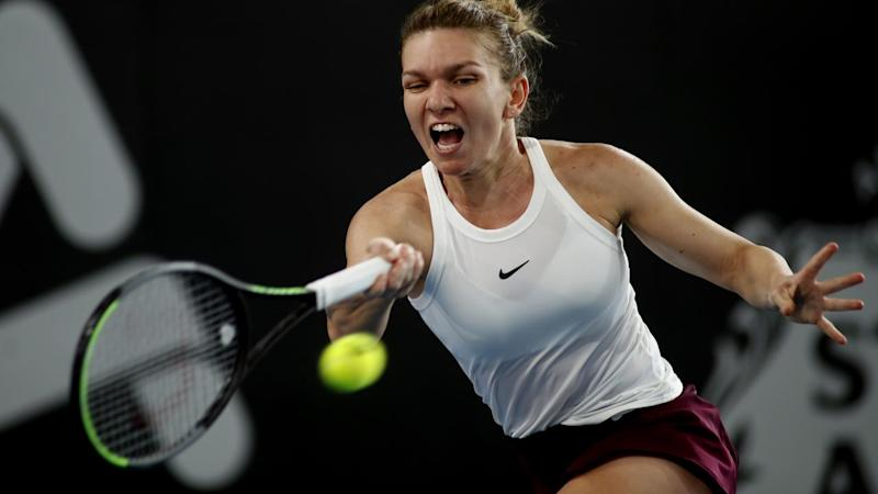 World No.4 Simona Halep has lost in the quarter-finals of the Adelaide International WTA event