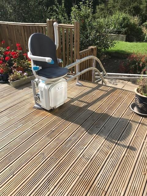 An external stairlift costing £18,000 was fitted in 2020 (Marie Stinson)