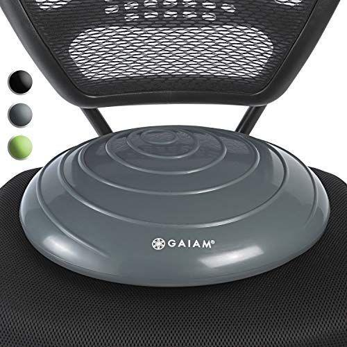 """<p><strong>Gaiam</strong></p><p>amazon.com</p><p><strong>$21.98</strong></p><p><a href=""""https://www.amazon.com/dp/B0764HWFL3?tag=syn-yahoo-20&ascsubtag=%5Bartid%7C2140.g.33501922%5Bsrc%7Cyahoo-us"""" rel=""""nofollow noopener"""" target=""""_blank"""" data-ylk=""""slk:Shop Now"""" class=""""link rapid-noclick-resp"""">Shop Now</a></p><p>No standing desk needed to make his office set up healthier. This """"wiggle seat"""" basically turns any desk chair into a core trainer in an instant. Plus, it's just plain comfy to sit on.</p>"""