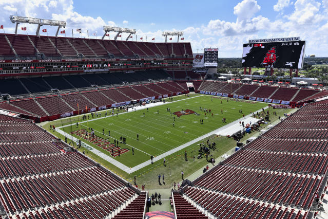 WrestleMania 36 was scheduled to take place at Raymond James Stadium in Tampa. (Roy K. Miller/Icon Sportswire via Getty Images)