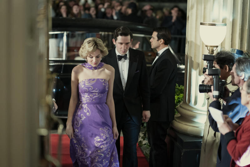 Picture shows: Priness Diana (EMMA CORRIN) and Prince Charles (JOSH O CONNOR)
