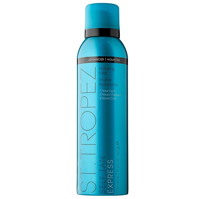 "St. Tropez Tanning Essentials Self Tan Express Bronzing Mist, $40; at <a rel=""nofollow"" href=""http://www.sephora.com/self-tan-express-bronzing-mist-P418367?skuId=1932524&icid2=products%20grid:p418367"">Sephora</a>"