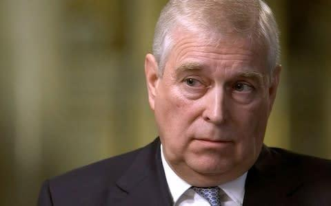 <span>Prince Andrew during his interview with BBC Newsnight's Emily Maitlis</span> <span>Credit: Enterprise News and Pictures </span>
