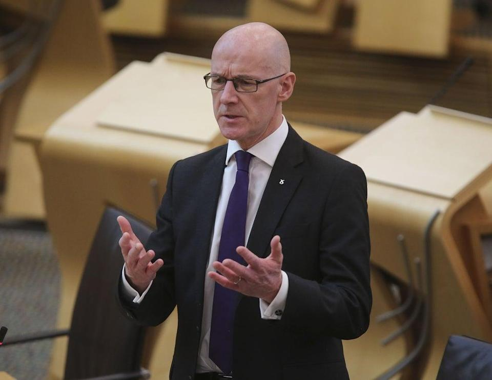 Scottish Deputy First Minister John Swinney said the Supreme Court ruling lays bare the 'weakness' of the devolution settlement (Fraser Bremner/Scottish Daily Mail/PA) (PA Wire)