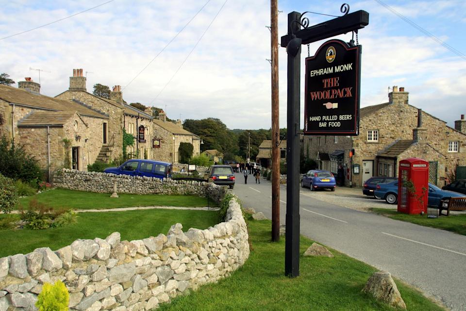 The Emmerdale village set, near Leeds, on the Press day of the soap's 30th anniversary celebrations.