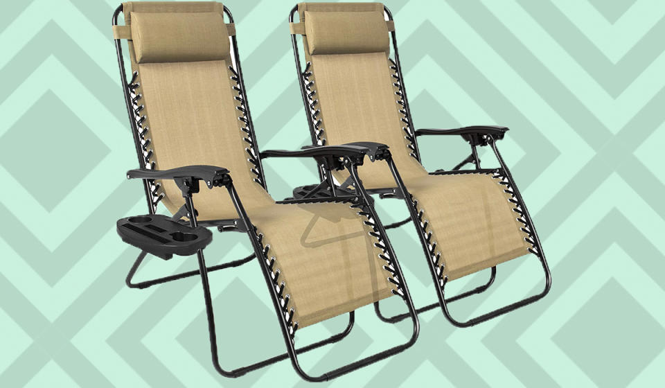 Durable, portable and lightweight, these recliners are a warm weather game-changer! (Photo: Amazon)