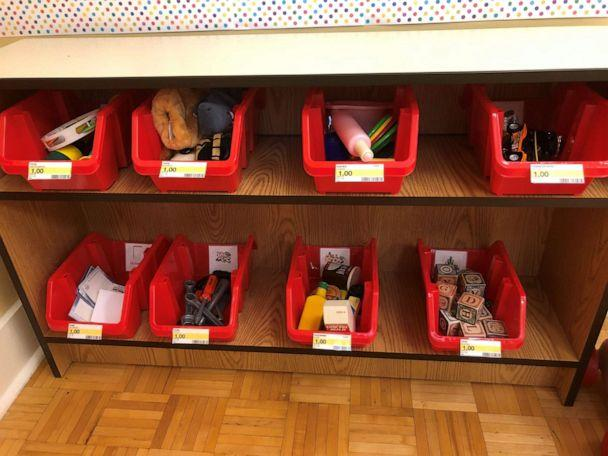 PHOTO: A preschool teacher set up a Target-themed play area in her classroom. (Theresa Yarber)