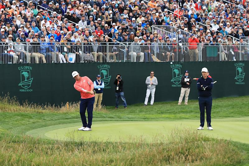 The shot that won Gary Woodland the U.S. Open might get you suspended at your club