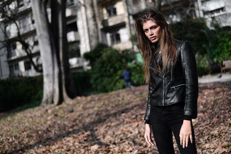"Brazilian transgender model Valentina Sampaio poses during an interview in Milan on February 18, 2017. Vogue Paris is to become the first French magazine to feature a transgender model on its cover, according the honour to Valentina Sampaio of Brazil for its March edition. Calling Sampaio the ""glam standard-bearer of a cause that is on the march"", the French edition of Vogue describes the 22-year-old as a ""femme fatale"" who happened to be born a boy. / AFP / MIGUEL MEDINA (Photo credit should read MIGUEL MEDINA/AFP/Getty Images)"
