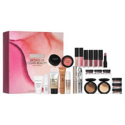 "<p>bareminerals.com</p><p><strong>$69.00</strong></p><p><a href=""https://go.redirectingat.com?id=74968X1596630&url=https%3A%2F%2Fwww.bareminerals.com%2Fnew%2Fnew-arrivals%2F24-days-of-clean-beauty-advent-calendar%253A-24-mini-makeup-%2526-skincare-favorites%2FUS92741.html&sref=https%3A%2F%2Fwww.townandcountrymag.com%2Fstyle%2Fbeauty-products%2Fnews%2Fg2919%2Fbeauty-advent-calendars%2F"" rel=""nofollow noopener"" target=""_blank"" data-ylk=""slk:Shop Now"" class=""link rapid-noclick-resp"">Shop Now</a></p><p><strong>Best For:</strong> The mineral makeup devotee. </p><p><strong>What's Inside:</strong> 24 mini versions of some of BareMinerals best-sellers including their Mineral Veil powder, bronzer, highlighter, and a whole collection of lip goodies. </p>"