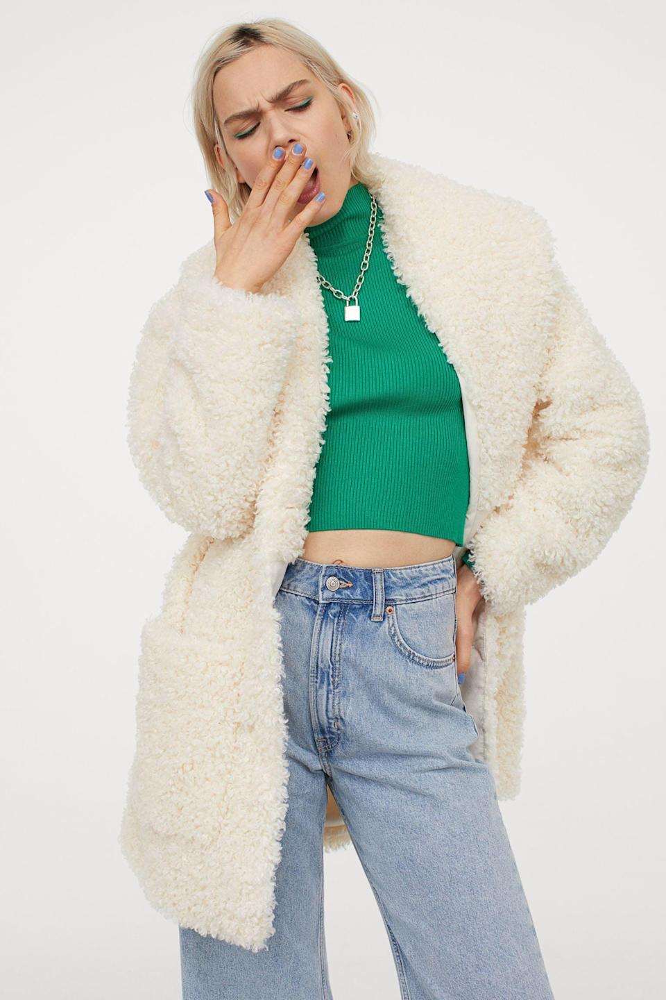 <p>Get ready to bundle up in this <span>Teddy Bear Coat</span> ($60), which looks so soft and comfy.</p>