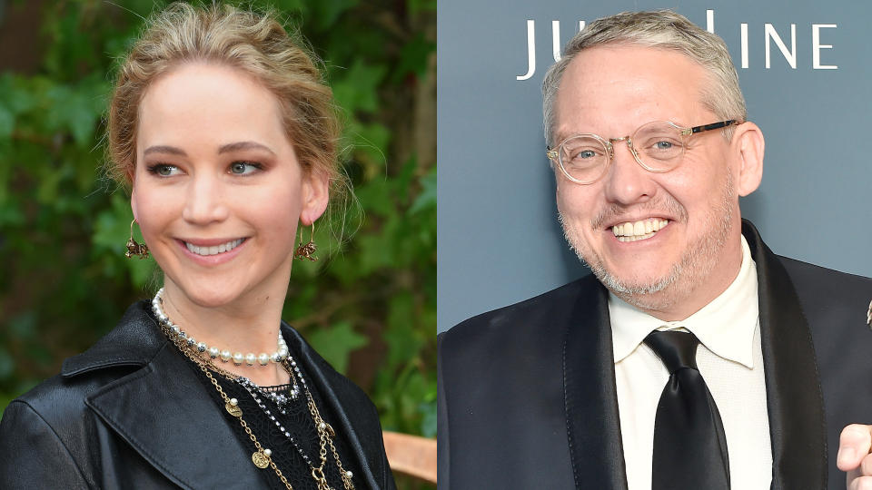Jennifer Lawrence is teaming with Adam McKay on a new Netflix project. (Credit: Stephane Cardinale/Corbis via Getty Images/Stefanie Keenan/Getty Images for CDGA)