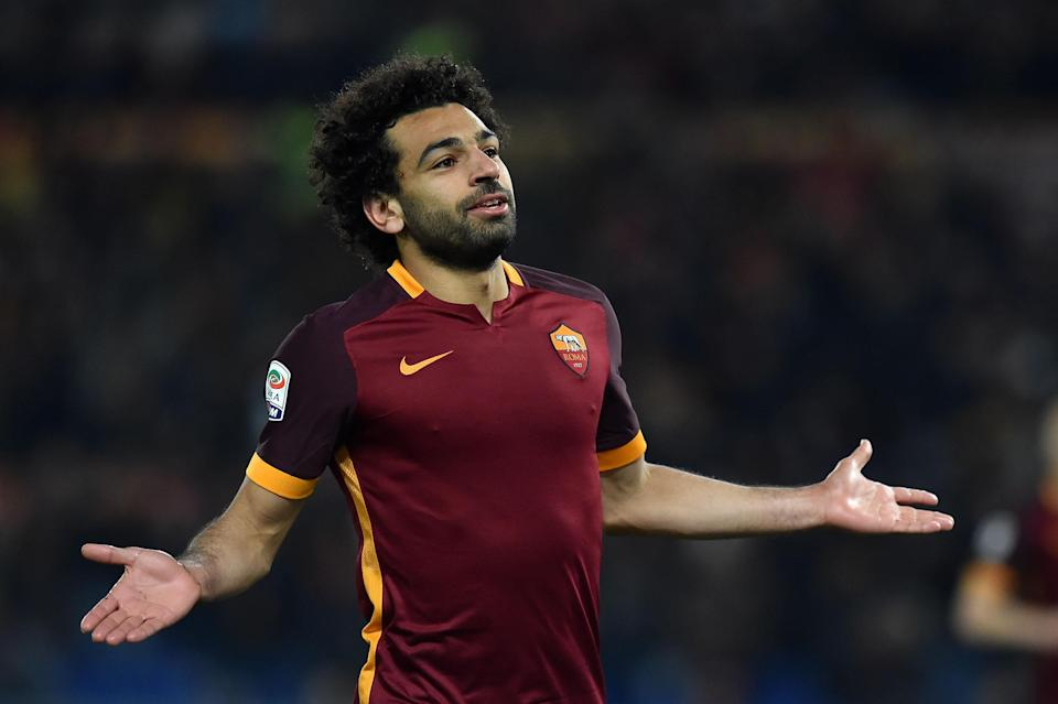 Mohamed Salah will face his former club, Roma, in the Champions League semifinals. (Getty)