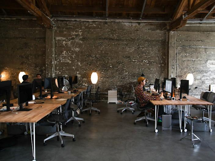 A startup's office in San Francisco in 2019.