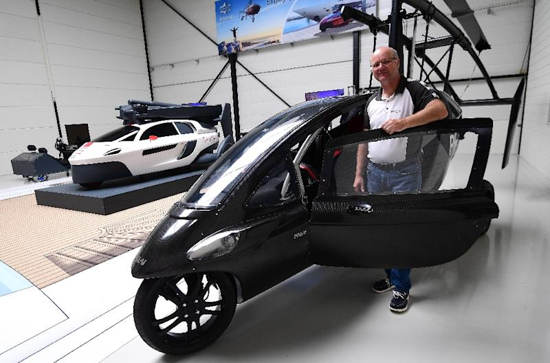 Chief Marketing Officer Markus Hess of flying car developer PAL-V says the firm expects to produce several hundred cars by 2020 (AFP Photo/EMMANUEL DUNAND)