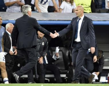 Ancelotti e Zidane - Real Madrid x Bayern de Munique