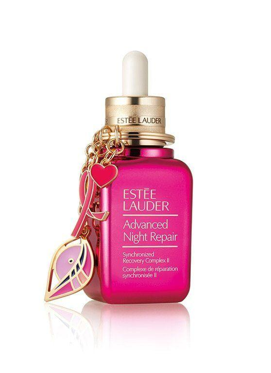 """This repair serum is donating 20% of each purchase to the Breast Cancer Research Foundation. Get it <a href=""""https://www.esteelauder.com/product/681/51396/product-catalog/skincare/advanced-night-repair-with-pink-ribbon-keychain/limited-edition-collectible"""" target=""""_blank""""><strong>here</strong></a>."""
