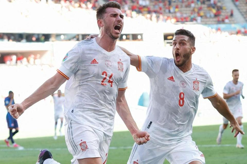 Spain finally put on an impressive goalscoring display after two performances lacking any clinical finishing (POOL/AFP via Getty Images)