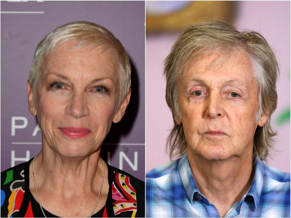 Annie Lennox and Sir Paul McCartney are two of the artists to have signed the document (Getty)