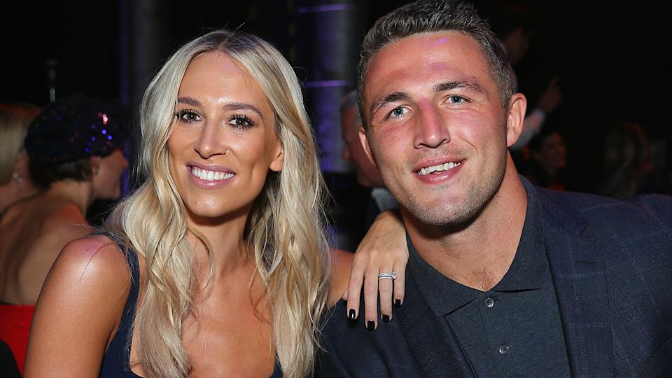Phoebe and Sam Burgess are pictured in 2018, before the breakdown of their marriage. (Photo by Don Arnold/WireImage)