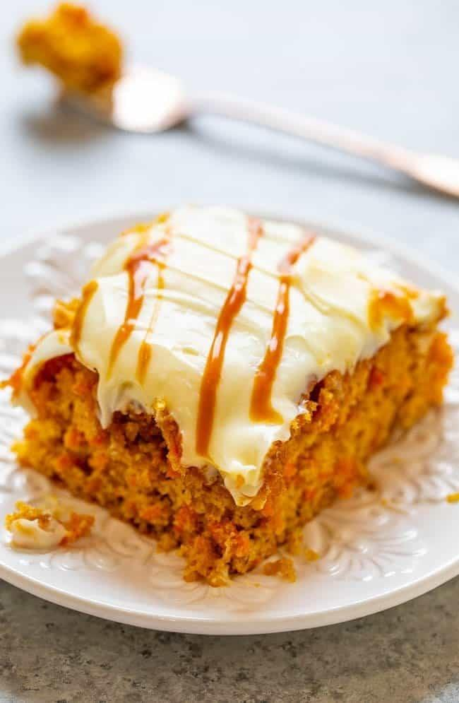 """<p>Serve your veggies as a moist cake with a creamy frosting and caramel finish - there's nothing wrong with that.</p> <p><strong>Get the recipe: </strong><a href=""""https://www.averiecooks.com/salted-caramel-carrot-cake/"""" class=""""link rapid-noclick-resp"""" rel=""""nofollow noopener"""" target=""""_blank"""" data-ylk=""""slk:salted-caramel carrot cake"""">salted-caramel carrot cake</a></p>"""