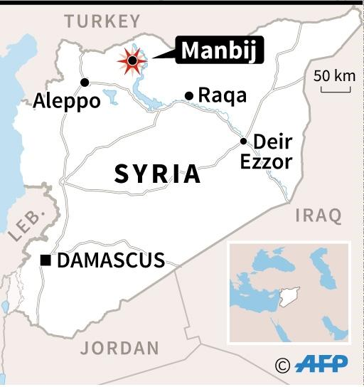 Syrian forces began an assault on Manbij at the end of May (AFP Photo/)