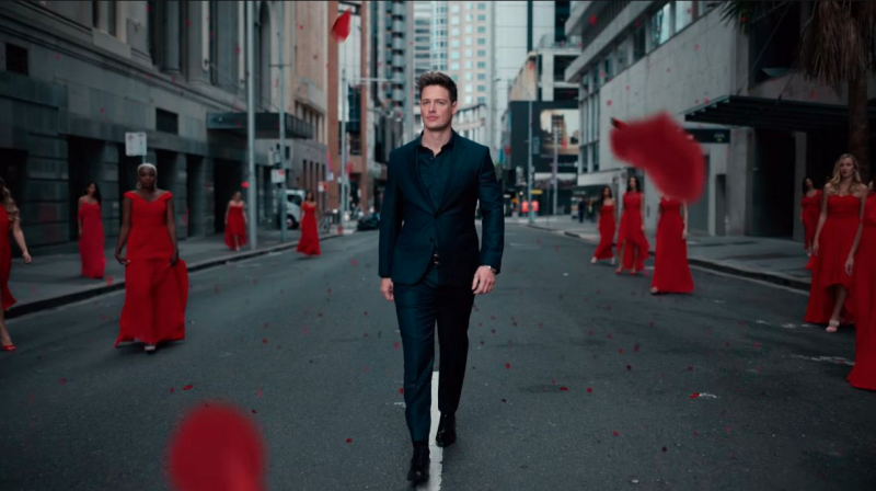 The Bachelor's promos this season included Matt surrounded by women in red, like The Handmaid's Tale