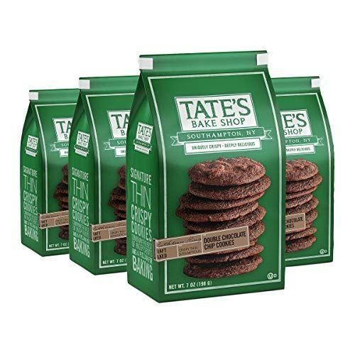 """<p><strong>Tate's Bake Shop</strong></p><p>amazon.com</p><p><strong>$23.49</strong></p><p><a href=""""https://www.amazon.com/dp/B07V33VB1Q?tag=syn-yahoo-20&ascsubtag=%5Bartid%7C10063.g.37661227%5Bsrc%7Cyahoo-us"""" rel=""""nofollow noopener"""" target=""""_blank"""" data-ylk=""""slk:Shop Now"""" class=""""link rapid-noclick-resp"""">Shop Now</a></p><p>If you like your cookies on the crispy side, try Tate's. The double chocolate chip flavor is indulgently delicious and goes great with a cup of coffee.</p>"""