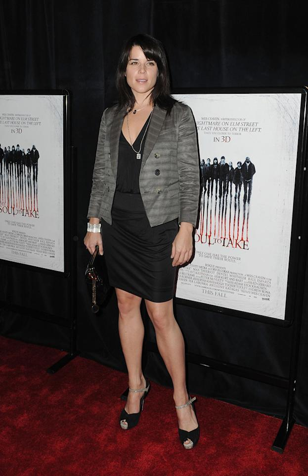 """<a href=""""http://movies.yahoo.com/movie/contributor/1800018951"""">Neve Campbell</a> at the New York City premiere of <a href=""""http://movies.yahoo.com/movie/1810022027/info"""">My Soul to Take</a> on October 06, 2010."""
