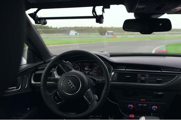 Autonomous Audi RS7 races around F1 circuit