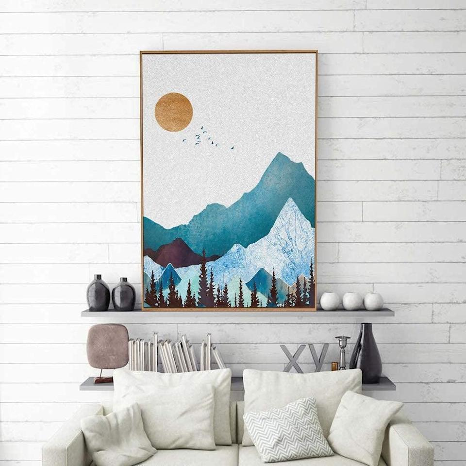<p>This <span>SIGNFORD Nordic Style Framed Color Canvas Wall Art 16x24 inches</span> ($40) will tie a room together.</p>