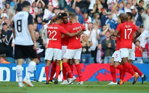 "Result: England 2 (Rashford 13', Welbeck 76') Costa Rica 0 To Russia with love. England took their final World Cup warm-up game on the road and got the strongest of send-offs - both on and off the pitch. In the stands at Leeds United's Elland Road stadium there were throwback songs to Euro 96 and ""Football Coming Home"", a raucous party atmosphere and even pantomime boos for the host of Manchester United players on show. This was Leeds, after all. It was confirmation that England away from the up-for-sale Wembley might well be a very good idea. One of those United players, Marcus Rashford, then went on to produce such a scintillating performance against fellow World Cup contestants Costa Rica that he made a powerful case for forcing his way into the starting line-up when England's campaign begins a week on Monday against Tunisia in the heat of Volgograd. It is assumed that Raheem Sterling will be tasked to be the forward player working closest to Harry Kane, but Rashford scored a superb goal and contributed to the second, claimed by substitute Danny Welbeck, in a relentless performance. There is, finally, healthy competition. That was Welbeck's eighth goal in 12 appearances for England and he confirmed his worth in the squad, a threat from the bench, while there were positives just about everywhere for Gareth Southgate. The manager knows the real work is about to begin, the real pressure is about to kick in, but England at least have the semblance of a team with a structure, with a belief and with depth. And, and this is all too rare, they appear to be enjoying it. The shackles were off. Who stood tall and who wilted in World Cup warm-up win against Costa Rica at Elland Road? Not least Ruben Loftus-Cheek who played with a creative elegance and assurance and departed having completed every one of the 34 passes he attempted. Considering how high up the pitch the midfielder plays that was an impressive achievement for the 22 year-old. There was more. If Southgate's 10 changes from last weekend's win over Nigeria suggested that this selection amounted to the equivalent of the British Lions' midweek 'dirt-trackers', then claims were pushed for more than that. Danny Rose, on his return to Leeds, where his career started, and after that he made his courageous revelations over his mental health issues, was hugely impressive at left-back and will certainly challenge Ashley Young. Inside him Harry Maguire did well and – importantly – provides a serious attacking threat from set-pieces as shown when he set up a chance for Jamie Vardy and saw another header hacked off the line after beating goalkeeper Keylor Navas. Denied on the line!@HarryMaguire93 came this close to scoring his first goal in @England colours#ENGCRCpic.twitter.com/79K09m3Ogj— ITV Football (@itvfootball) June 7, 2018 In truth it was not Vardy's night, not against a team that dropped so deep, that lacked ambition and denied space, and prevented him from running in behind. When the striker was replaced by Welbeck he appeared understandably frustrated. There was more liberation behind him with Fabian Delph also doing well, and showing his versatility, as he slotted into two midfield positions, while 19-year-old Trent Alexander-Arnold will be pleased with his debut as will goalkeeper Nick Pope. He replaced Jack Butland for his first appearance and then confidently dealt with a dangerous near-post half-volley. So Southgate has his 3-5-2 formation and he has players contesting places. Another was Jordan Henderson who will know it is between him and Eric Dier for a starting place in that opening game. He, too, responded, as did Dele Alli who came on as a substitute – not a role he enjoys, and one he has been distracted by in the past – but made an impact, not least in dinking the cross from which Welbeck scored. Costa Rica are ranked 23rd in the world and go to Russia for a daunting round of Group E fixtures against Brazil, Serbia and Switzerland. Their squad is peppered with Premier League past performers – and Real Madrid goalkeeper Navas – while the post-match inquest centered on the lack of minutes for their best player - former Fulham forward Bryan Ruiz, who is not fully fit. World Cup 2018 