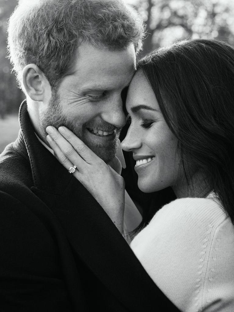 It wouldn't be the first time Meghan Markle has worn Victoria Beckham's eponymous line, as she donned a cashmere knit by the designer in one of her engagement portraits [Photo: Getty]
