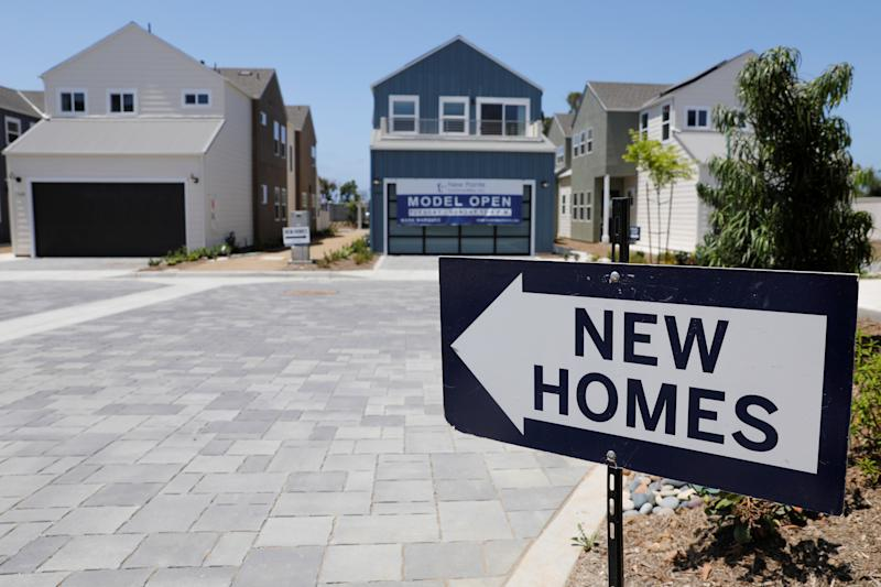 Newly constructed single family homes are shown for sale in Encinitas, California, U.S., July 31, 2019. REUTERS/Mike Blake
