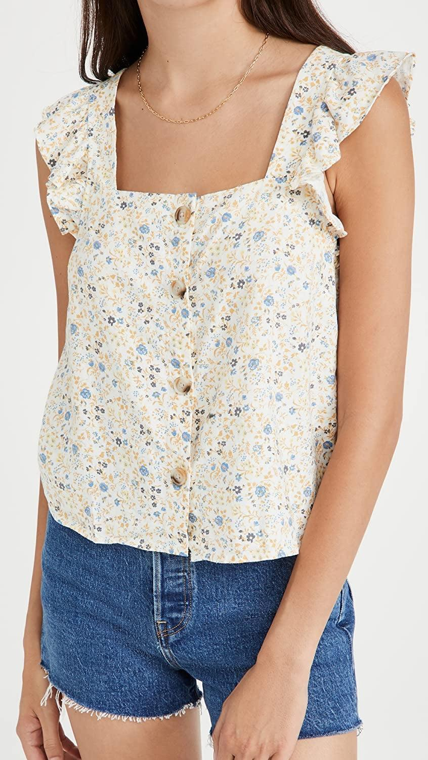 <p>Go for something playful and feminine like this <span>Madewell Elise Tank</span> ($60).</p>
