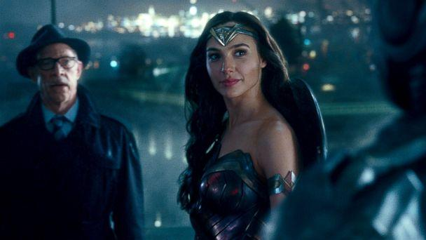 PHOTO: J.K. Simmons, as Commissioner Gordon, and Ga; Gadot, as Wonder Woman, in a scene from 'Justice League.' (Warner Bros. Pictures)